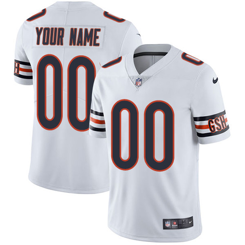 Men's Nike Chicago Bears White Customized Vapor Untouchable Player Limited Jersey