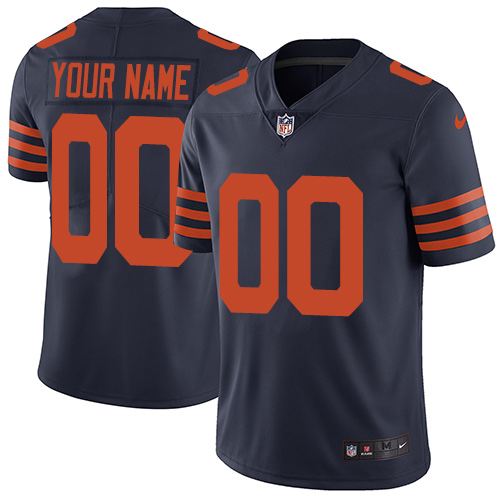 Men's Nike Chicago Bears Navy Throwback Customized Vapor Untouchable Player Limited Jersey