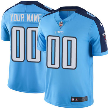 Men's Nike Tennessee Titans Light Blue Customized Vapor Untouchable Player Limited Jersey