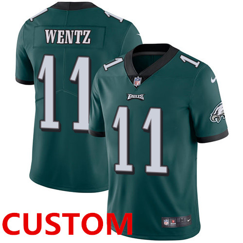 Custom Nike Philadelphia Eagles Midnight Green Team Color Men's Stitched NFL Vapor Untouchable Limited Jersey