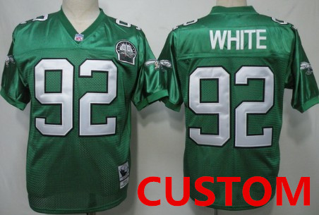 Custom Philadelphia Eagles  Light Green Throwback 99TH Jersey