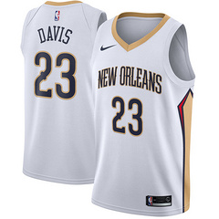 Nike New Orleans Pelicans #23 Anthony Davis White NBA Swingman Association Edition Jersey
