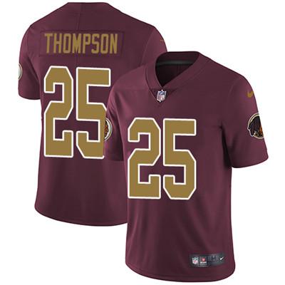 Nike Washington Redskins #25 Chris Thompson Burgundy Red Alternate Stitched NFL Vapor Untouchable Limited Jersey