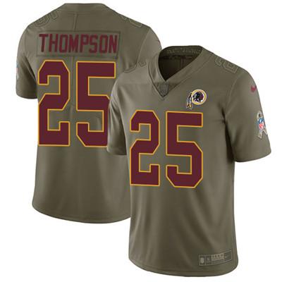 Nike Washington Redskins #25 Chris Thompson Olive Stitched NFL Limited 2017 Salute to Service Jersey