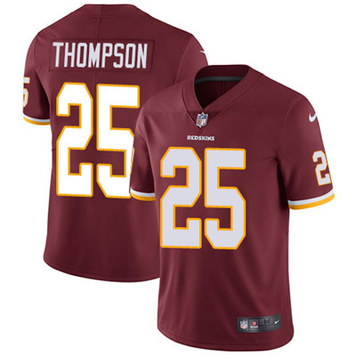 Youth Nike Washington Redskins #25 Chris Thompson Burgundy Red Team Color Stitched NFL Vapor Untouchable Limited Jersey