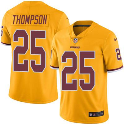 Youth Nike Washington Redskins #25 Chris Thompson Gold Stitched NFL Limited Rush Jersey
