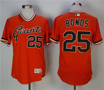 San Francisco Giants #25 Barry Bonds Orange Flexbase Authentic Collection Cooperstown Stitched MLB Jersey