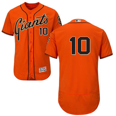 San Francisco Giants #10 Evan Longoria Orange Flexbase Authentic Collection Stitched MLB Jersey