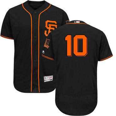 San Francisco Giants #10 Evan Longoria Black Flexbase Authentic Collection Alternate Stitched MLB Jersey
