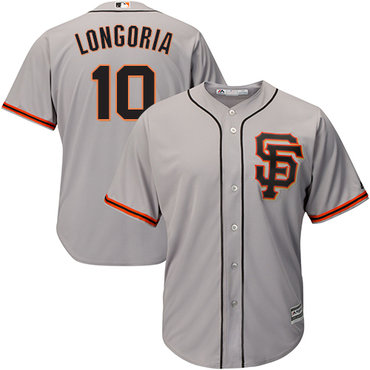 San Francisco Giants #10 Evan Longoria Grey New Cool Base Road 2 Stitched MLB Jersey