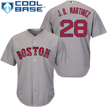 Boston Red Sox #28 J. D. Martinez Grey New Cool Base Stitched MLB Jersey