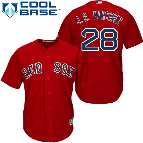 Boston Red Sox #28 J. D. Martinez Red New Cool Base Stitched MLB Jersey