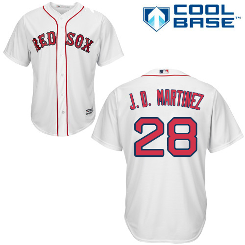 Boston Red Sox #28 J. D. Martinez White New Cool Base Stitched MLB Jersey