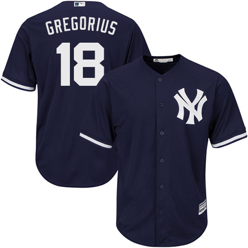 New York Yankees #18 Didi Gregorius Navy Blue New Cool Base Stitched MLB Jersey
