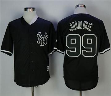 New York Yankees #99 Aaron Judge Black Fashion Stitched MLB Jersey