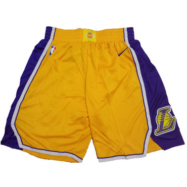 Los Angeles Lakers Yellow Nike NBA Shorts