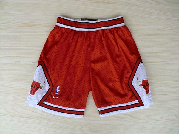 Chicago Bulls Red Nike Mesh NBA Shorts
