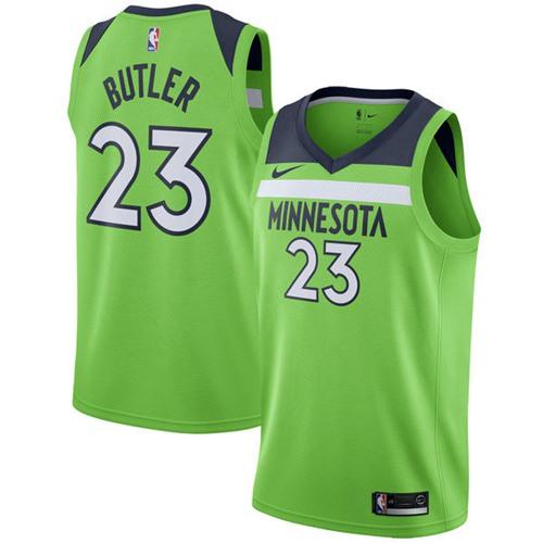 Nike Minnesota Timberwolves #23 Jimmy Butler Green NBA Swingman Statement Edition Jersey