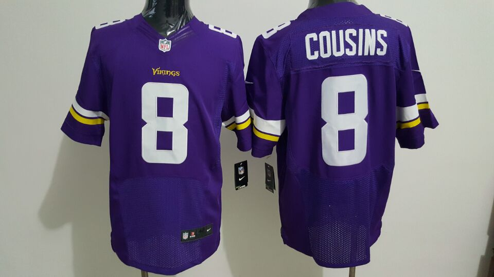 Nike Minnesota Vikings #8 Kirk Cousins Purple Team Color Men's Stitched NFL Elite Jersey