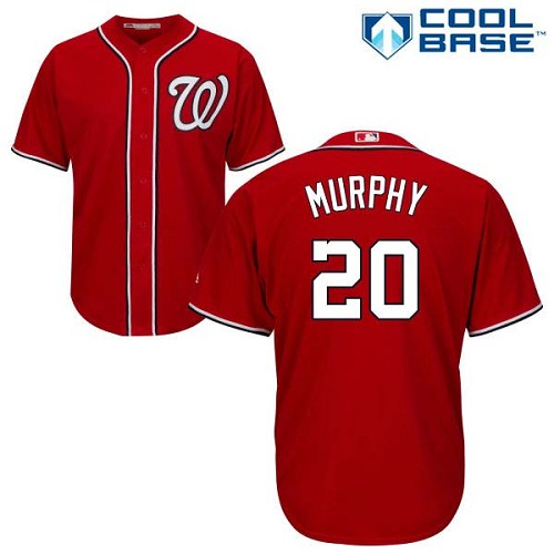 Men's Washington Nationals #20 Daniel Murphy Red New Cool Base Stitched MLB Jersey