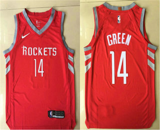 Men's Houston Rockets #14 Gerald Green New Red 2017-2018 Nike Authentic Printed NBA Jersey