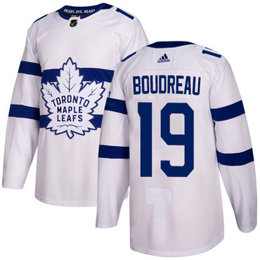 Adidas Toronto Maple Leafs #19 Bruce Boudreau White Authentic 2018 Stadium Series Stitched NHL Jersey