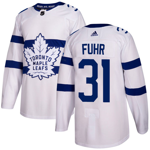 Adidas Toronto Maple Leafs #31 Grant Fuhr White Authentic 2018 Stadium Series Stitched NHL Jersey