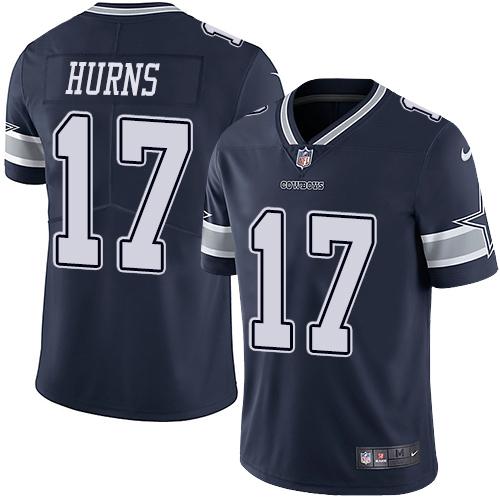 Men's Nike Dallas Cowboys #17 Allen Hurns Navy Blue Team Color Stitched NFL Vapor Untouchable Limited Jersey