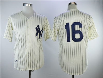 Mitchell And Ness 1939 New York Yankees #16 Cream Throwback Stitched MLB Jersey