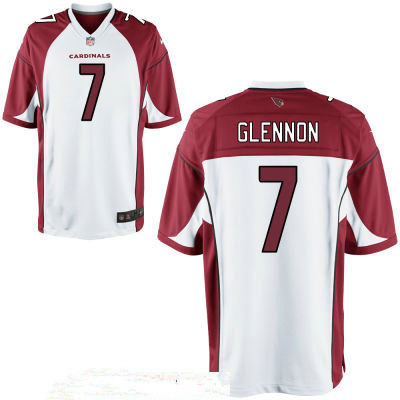 Men's Arizona Cardinals #7 Mike Glennon White Road Stitched NFL Nike Game Jersey