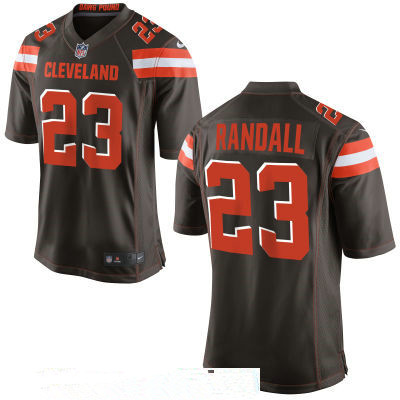Men's Cleveland Browns #23 Damarious Randall Brown Team Color Stitched NFL Nike Game Jersey