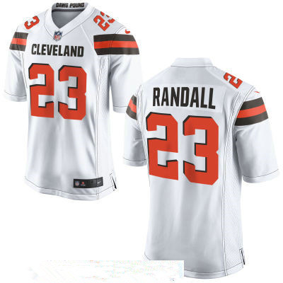 Men's Cleveland Browns #23 Damarious Randall White Road Stitched NFL Nike Game Jersey
