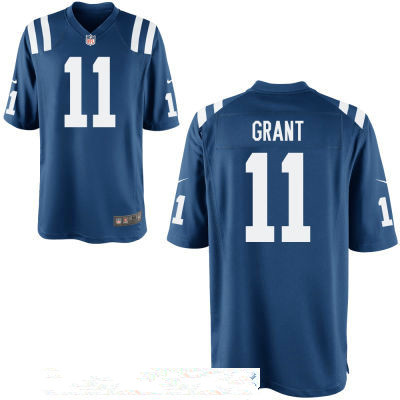 Men's Indianapolis Colts #11 Ryan Grant Royal Blue Team Color Stitched NFL Nike Game Jersey