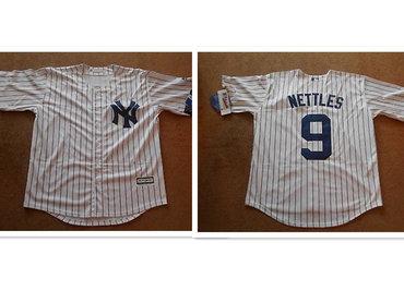 New York Yankees #9 Graig Nettles White Button Baseball Jersey