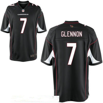 Men's Arizona Cardinals #7 Mike Glennon Black Alternate Stitched NFL Nike Elite Jersey