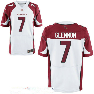 Men's Arizona Cardinals #7 Mike Glennon White Road Stitched NFL Nike Elite Jersey