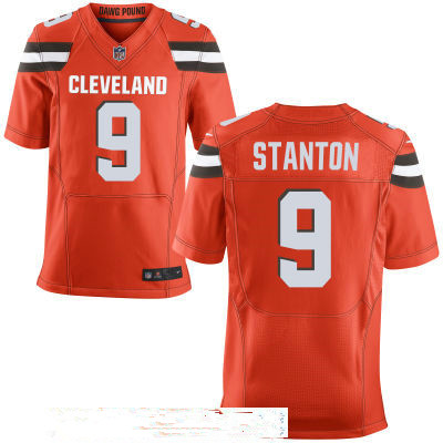 Men's Cleveland Browns #9 Drew Stanton Orange Alternate Stitched NFL Nike Elite Jersey