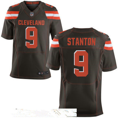 Men's Cleveland Browns #9 Drew Stanton Brown Team Color Stitched NFL Nike Elite Jersey