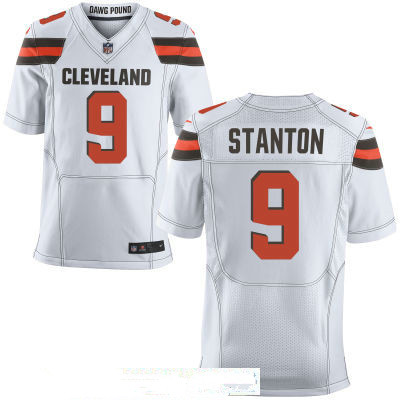 Men's Cleveland Browns #9 Drew Stanton White Road Stitched NFL Nike Elite Jersey