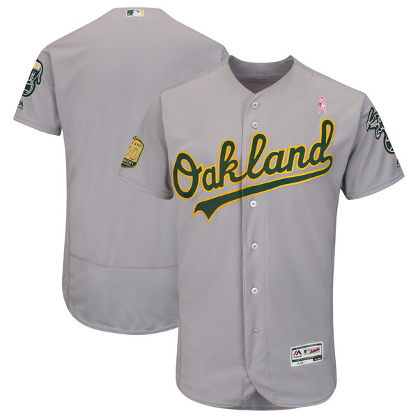 Oakland Athletics Blank Gray 2018 Mother's Day Flexbase Jersey