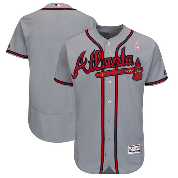 Atlanta Braves Blank Gray 2018 Mother's Day Flexbase Jersey