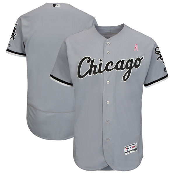 Chicago White Sox Blank Gray 2018 Mother's Day Flexbase Jersey