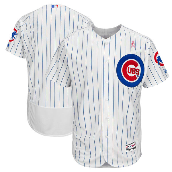 Chicago Cubs Blank White 2018 Mother's Day Flexbase Jersey