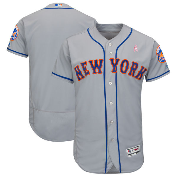 New York Mets Blank Gray 2018 Mother's Day Flexbase Jersey
