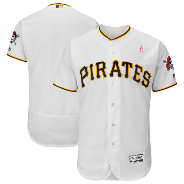 Pittsburgh Pirates Blank White 2018 Mother's Day Flexbase Jersey