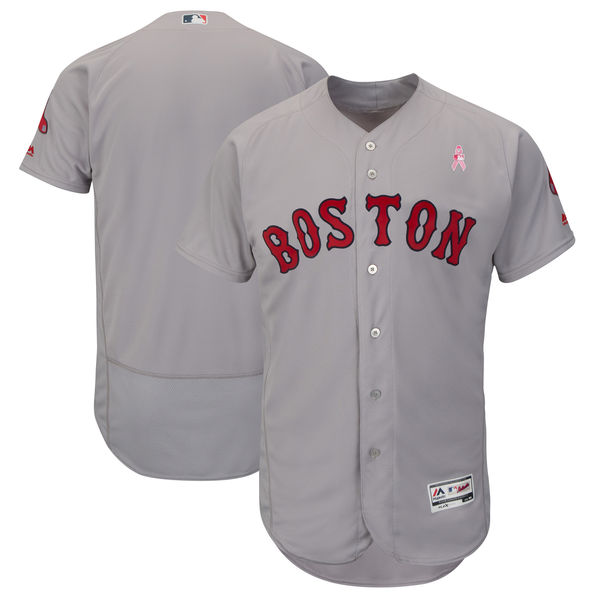 Boston Red Sox Blank Gray 2018 Mother's Day Flexbase Jersey