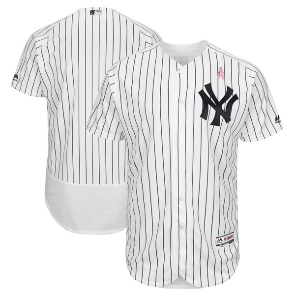 New York Yankees Blank White 2018 Mother's Day Flexbase Jersey