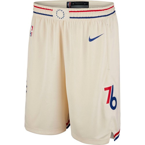 Men's Philadelphia 76ers Nike Cream City Edition Swingman Shorts