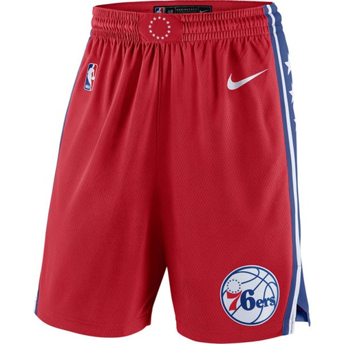 Men's Philadelphia 76ers Nike Red Statement Swingman Basketball Shorts