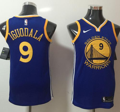 Nike Golden State Warriors #9 Andre Iguodala Blue NBA Swingman Icon Edition Jersey
